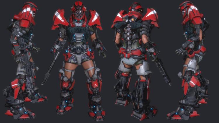 最终设计完成的RIpcoil角色图