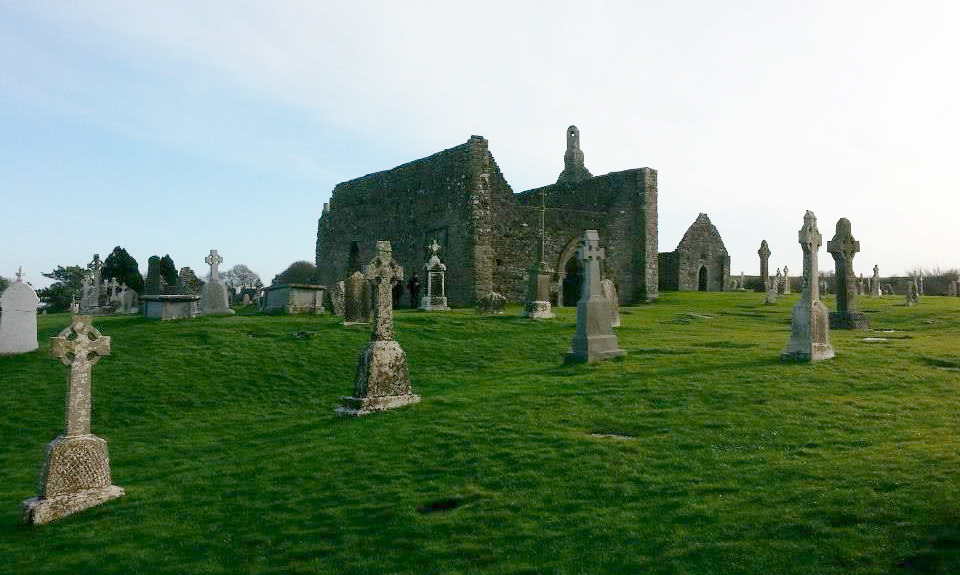 The Old Abbey at Clonmacnoise
