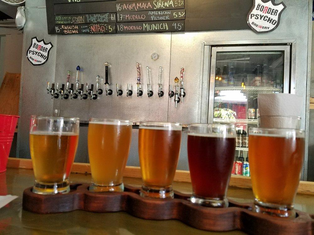 Border Psycho: World class craft beer & glass dildo handles.