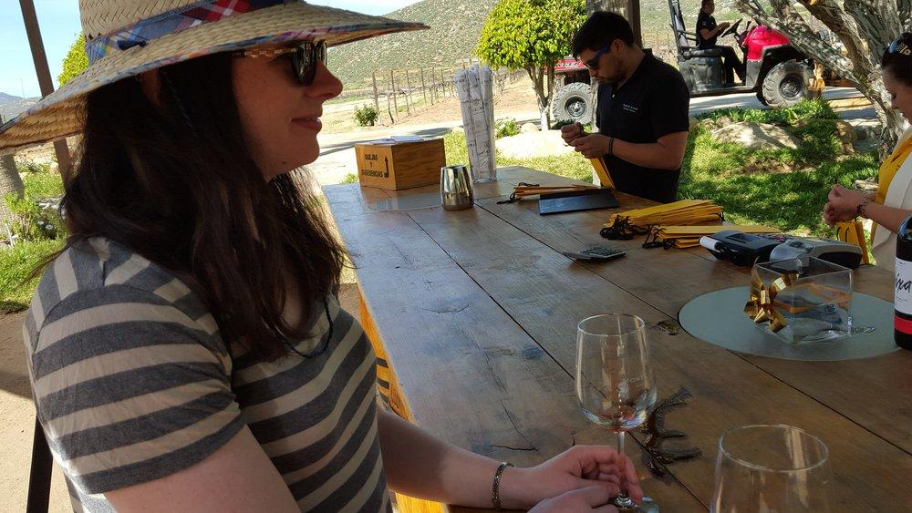 Monte Xanic wine tasting.