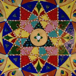 Mandala Twelve Pointed Star  by artist Kim Salinas
