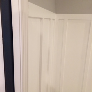 The Boy's bathroom got painted and is about 95% done!