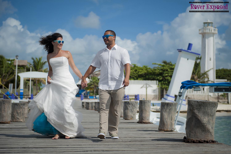 sassy wedding, Puerto Morelos, Mexico