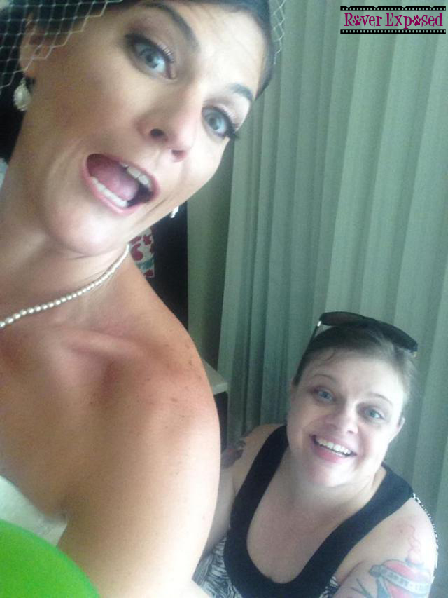 the gorgeous bride snapped this selfie as I helped with her dress – I look deranged