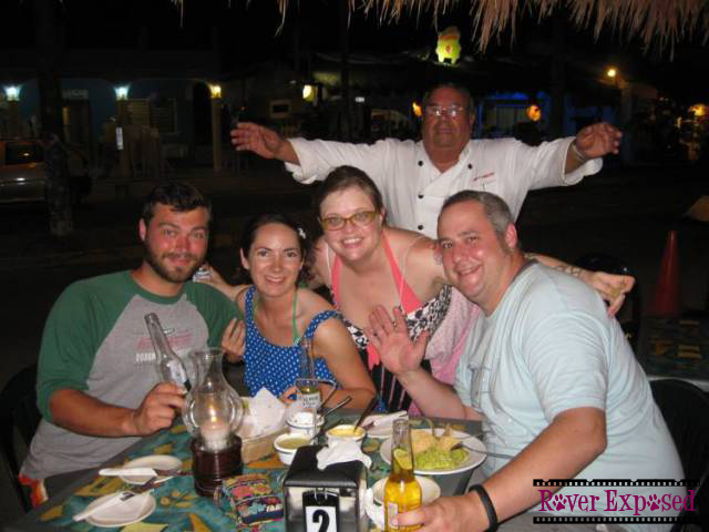 our first dinner in Puerto Morelos, with appearance by the chef
