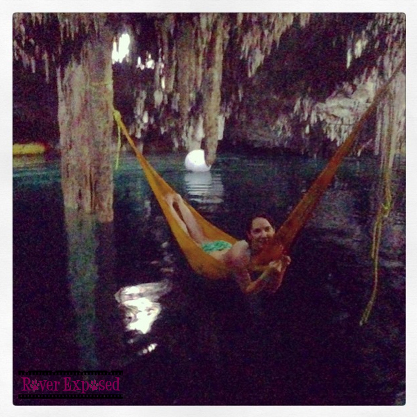 just chilling on a hammock in a cenote, no biggie