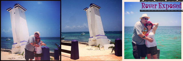 the famous lighthouse and pier of Puerto Morelos