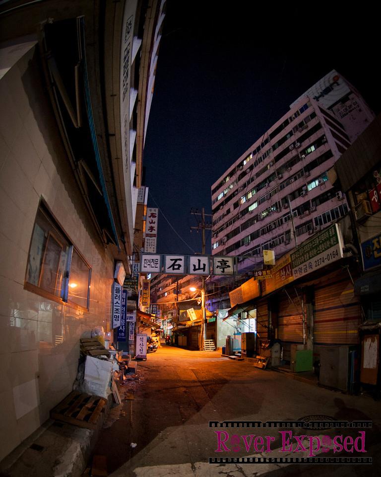 an alleyway in Seoul
