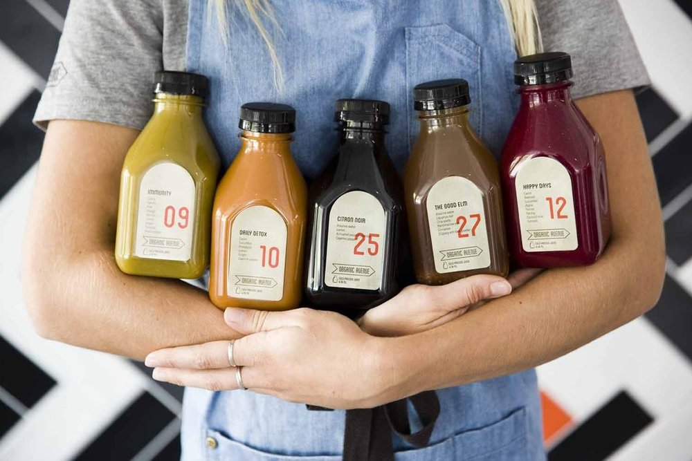 Organic Avenue's array of fresh juices which are supplied to a number of F&B outlets in Australia