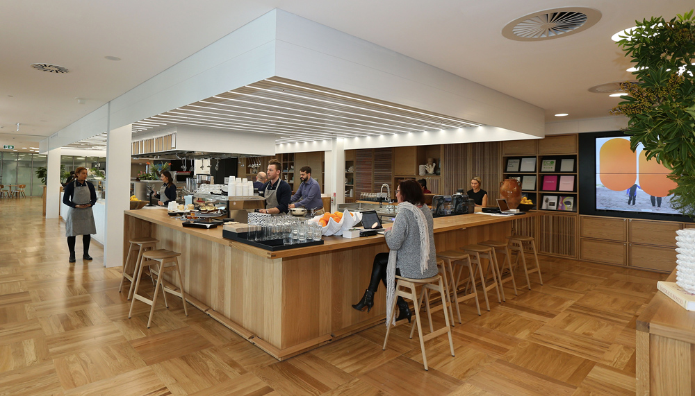 Lend Lease's company cafe led by Food Rascals at their new Barangaroo head quarters