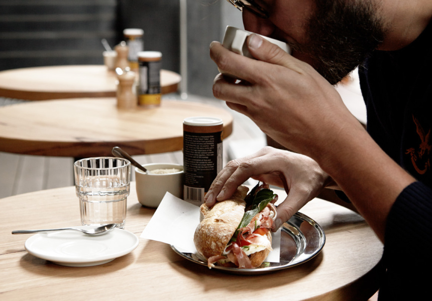 Story Coffee & Foodstore by Melbourne coffee roasters, Duke's based at NAB HQ, Bourke St (image via Broadsheet)