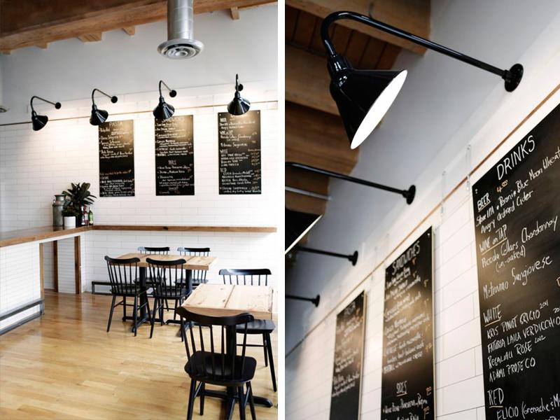 Menu lighting by  Barn Light Electric - Tinello, Seattle