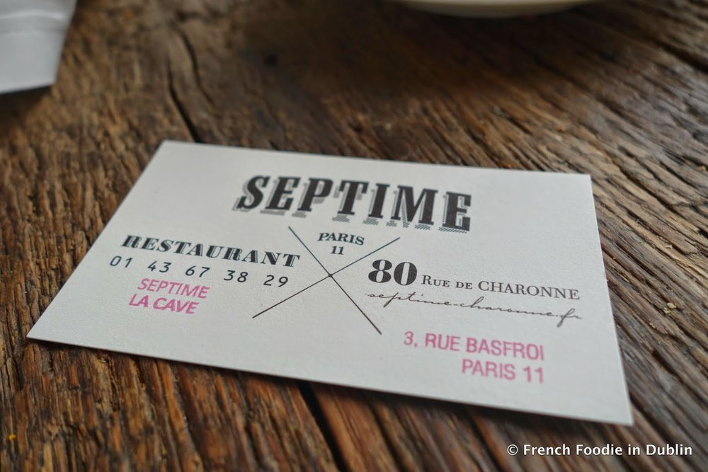 Septime, Paris - The World's most sustainable restaurant (Image via French Foodie in Dublin)