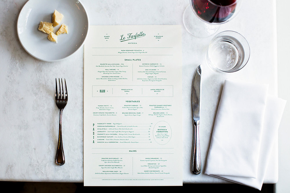 La Farfelle's Menu by One & Other  (image via The Design Blog)