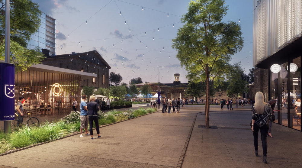 Pentridge, a mixed-use development in Coburg, Melbourne ( image via Colliers International )