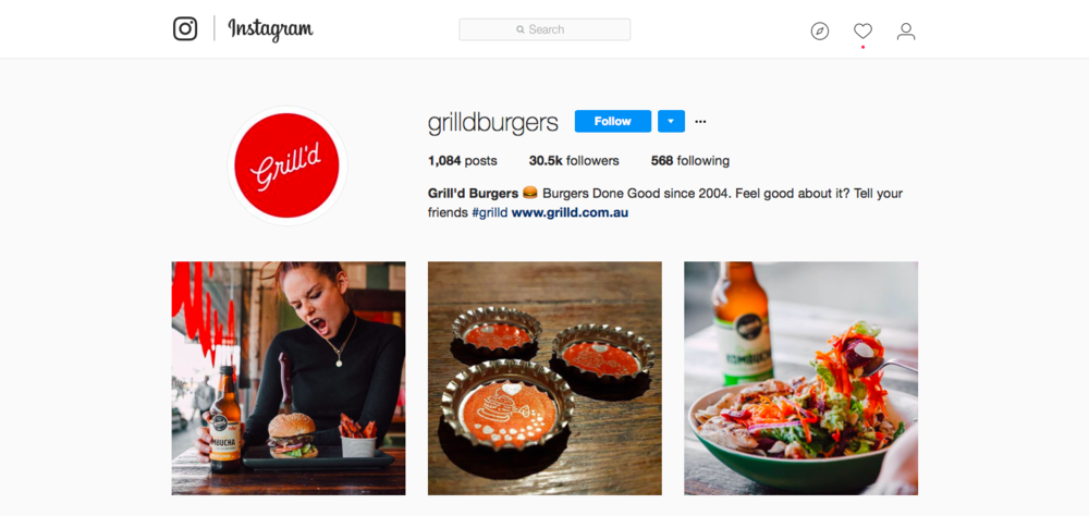 They have over 30k followers watching their menus change and what the business is up to to build trust in the brand and entice customers into the store