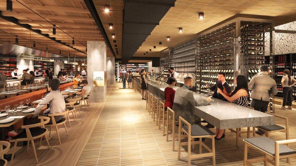 Visual of the Landini Associates designed David Jones Food Hall at Bondi Junction ( i  mage via Landini Associates )