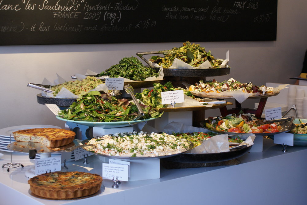 Ottolenghi introduces your eyes to the food before you've even read the menu ( image via Bellow Blogs )