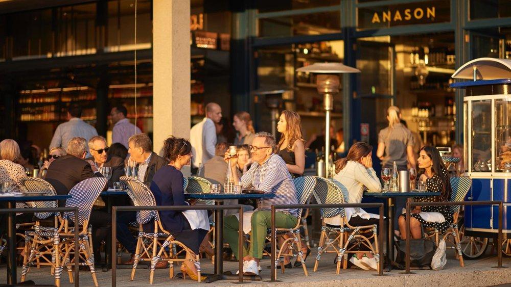 Anason  at Barangaroo buzzing with the evening economy  (image via  Concrete Playground )