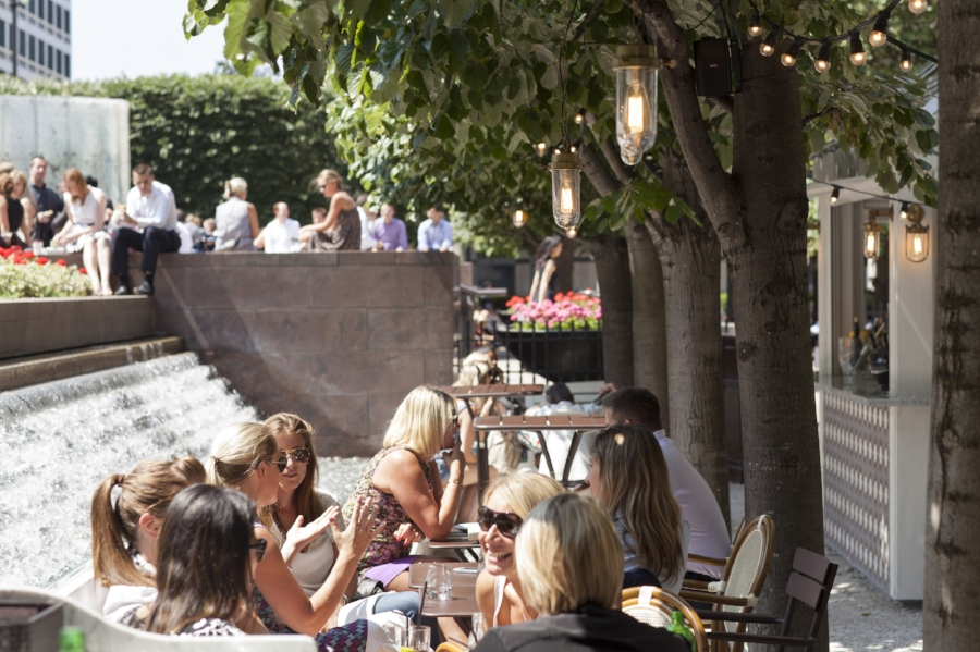 Iberica at Canary Wharf offers al fresco dining space for people to enjoy their meal and drinks in (i mage via  Iberica  )