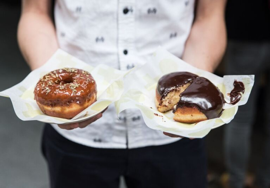 Shortstop Doughnuts  at Barangaroo - doughnuts that draw crowds and satisfy the workers' 3pm sweet needs  (image via  Broadsheet )