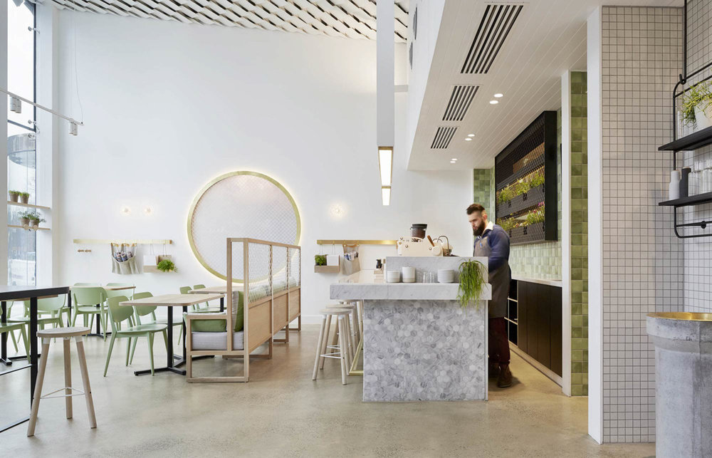 Kettle Black - One of the most popular cafe's in Melbourne and one of Francis' favourites for showing what good food, good service and good design can do for a hospitality business -  see the full design at Design Milk
