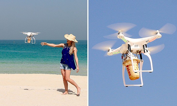 Costa Drone Coffee Delivery Service in Dubai