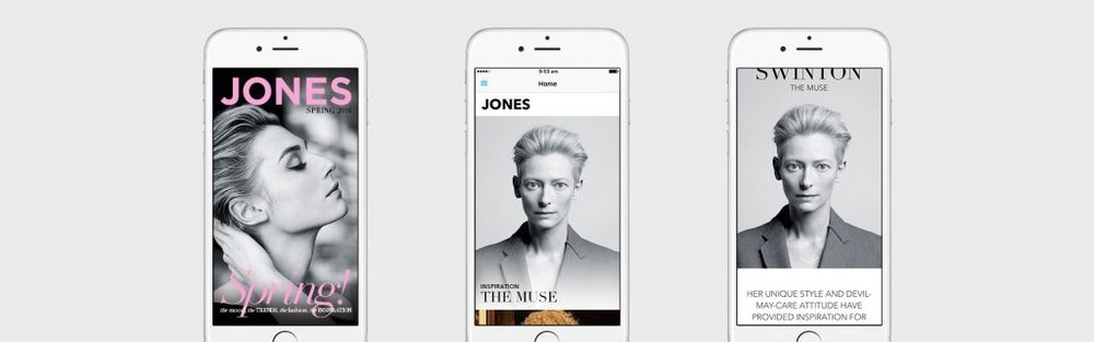 JONES by David Jones - a curated edit of fashion trends, inspiration and must-haves that helps support David Jones' overall digital and social strategy  image and App via PLOT MEDIA
