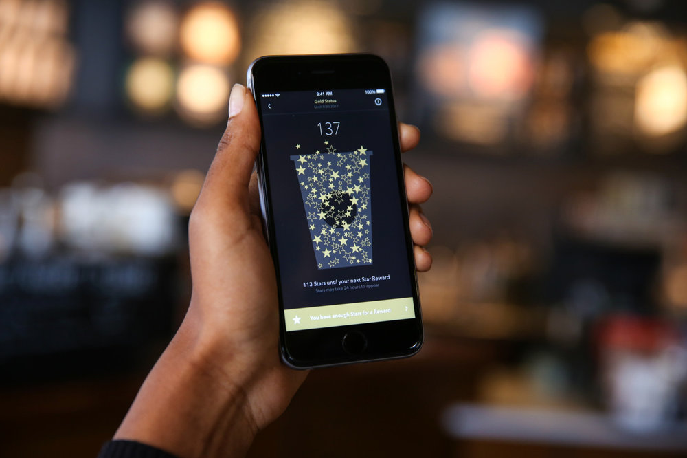 Starbucks' strategic customer app which collects and tracks consumer data in real time  image via Tech Crunch