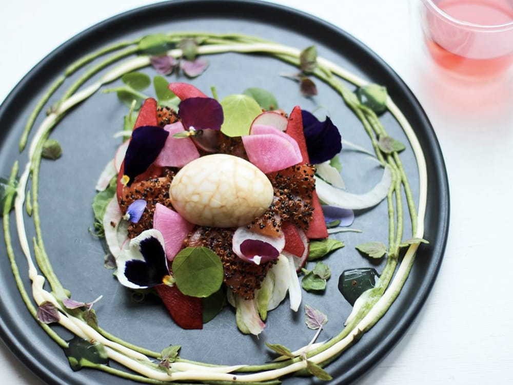 Incredibly plated dishes has  Industry Beans, Melbourne  loaded with a line all weekend  image via The Wellness Guide