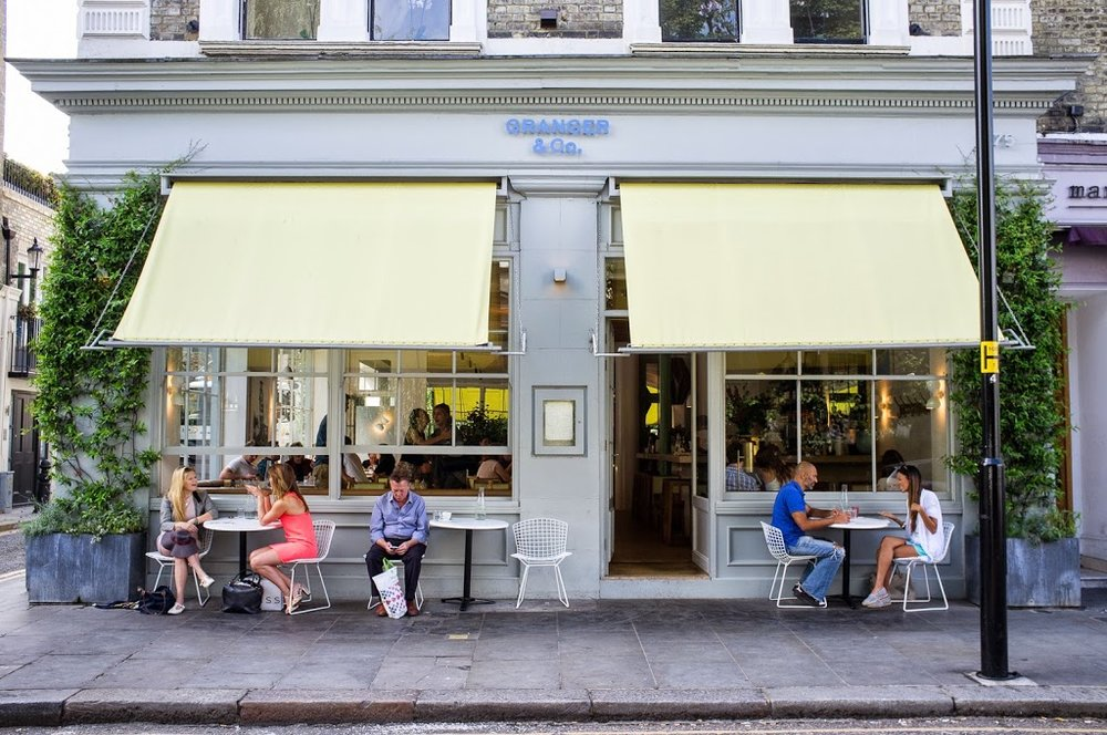 Granger & Co.  in Notting Hill, London provides the perfect home for a relaxing meal and catch up  image via Passagem Gastranomica