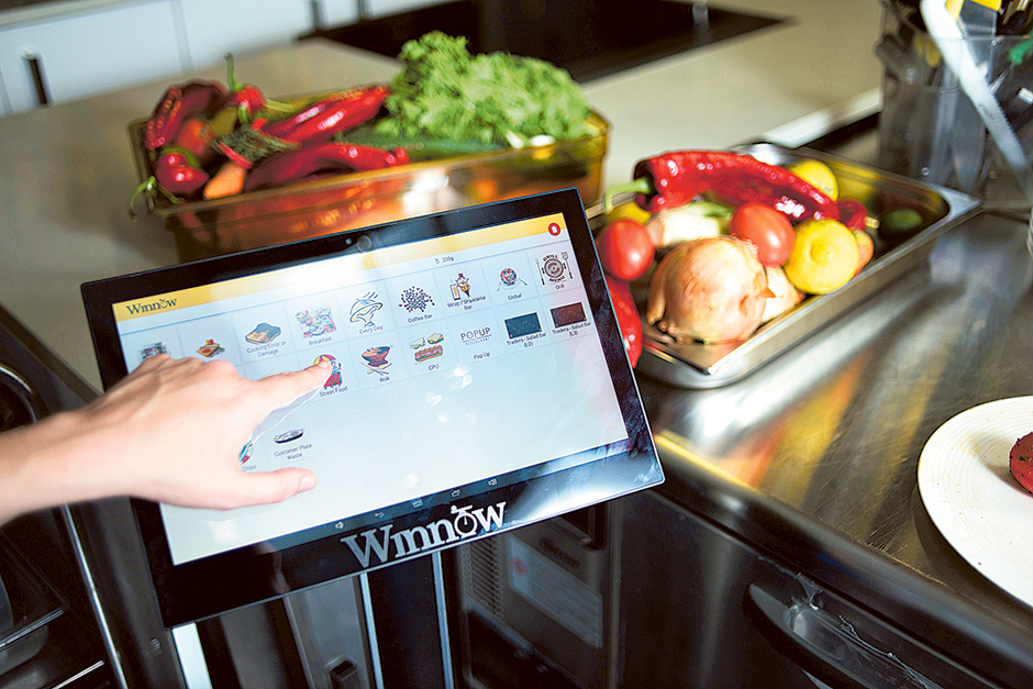 Winnow's food waste analysis system  image via Gulf News