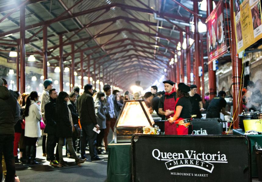 Winter Night Market at Queen Victoria Market in Melbourne  image via Broadsheet