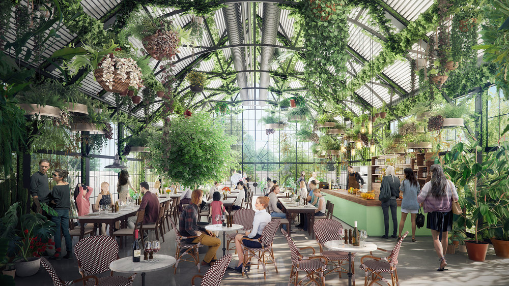 Burwood Brickworks Rooftop Garden and Greenhouse Eatery Planned to Open in 2019 (Credit:  Frasers Property )