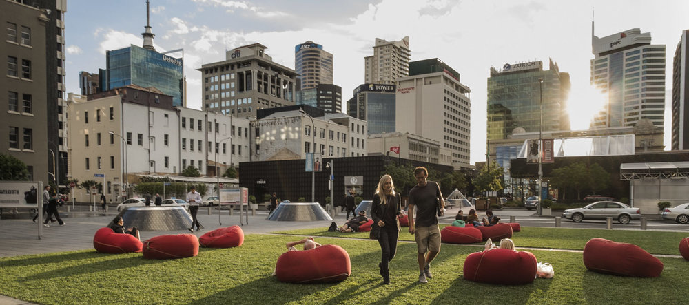 Lounging on the Green at  Britomart  (Credit: Cooper and Company)