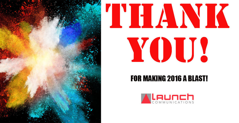 To all our valued  clients, collaborators and friends,  thank you for giving us some love in our first year of Launch!