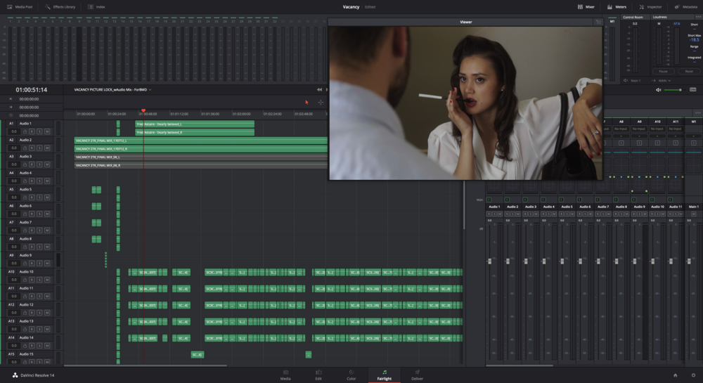 Fairlight Page in DaVinci Resolve 14 Studio