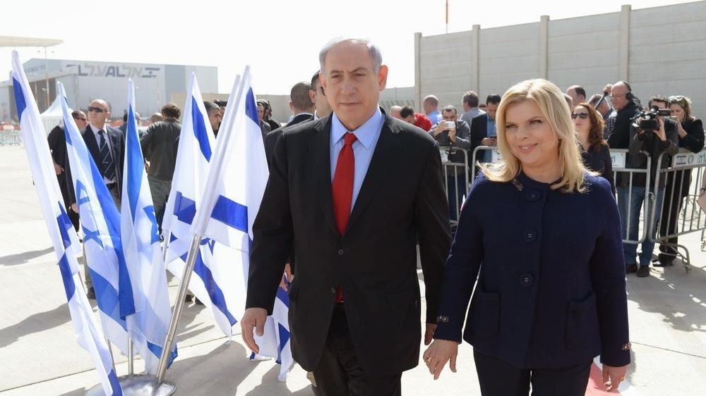 Israeli PM Netanyahu and his wife Sarah