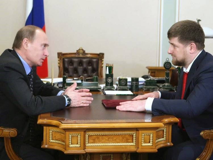 Putin And Ramzan Kadyrov, Seen By Many As The Puppet Leader Of Chechnya
