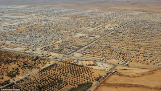 The Zaatari Refugee Camp In Jordan, Currently Housing Over 80,000 Syrians