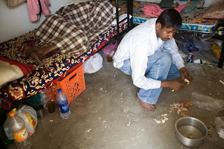 The Living Quarters Of A Migrant Worker In Qatar