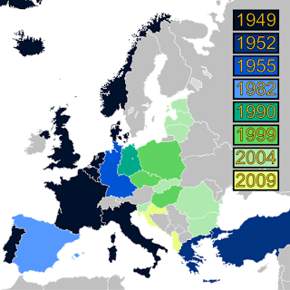 The expansion of NATO over the century