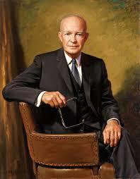Dwight Eisenhower, seen here looking presidential