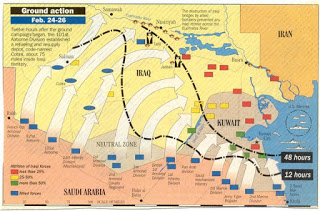 The first invasion of Iraq....and Kuwait too