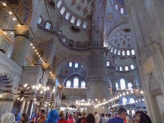 Inside the Blue Mosque....wow