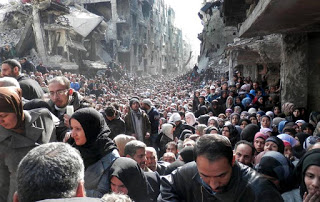 The Line For Food Rations In Damascus