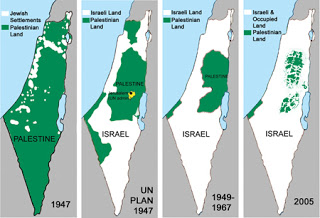 Palestine's shrinking borders