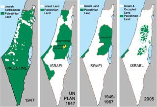 Palestine's shrinking borders