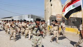 The Iraqi Army Marching Into Ramadi