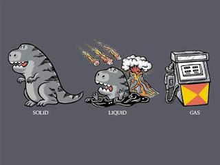 Bonus fact: gasoline is really just exploding dinosaurs